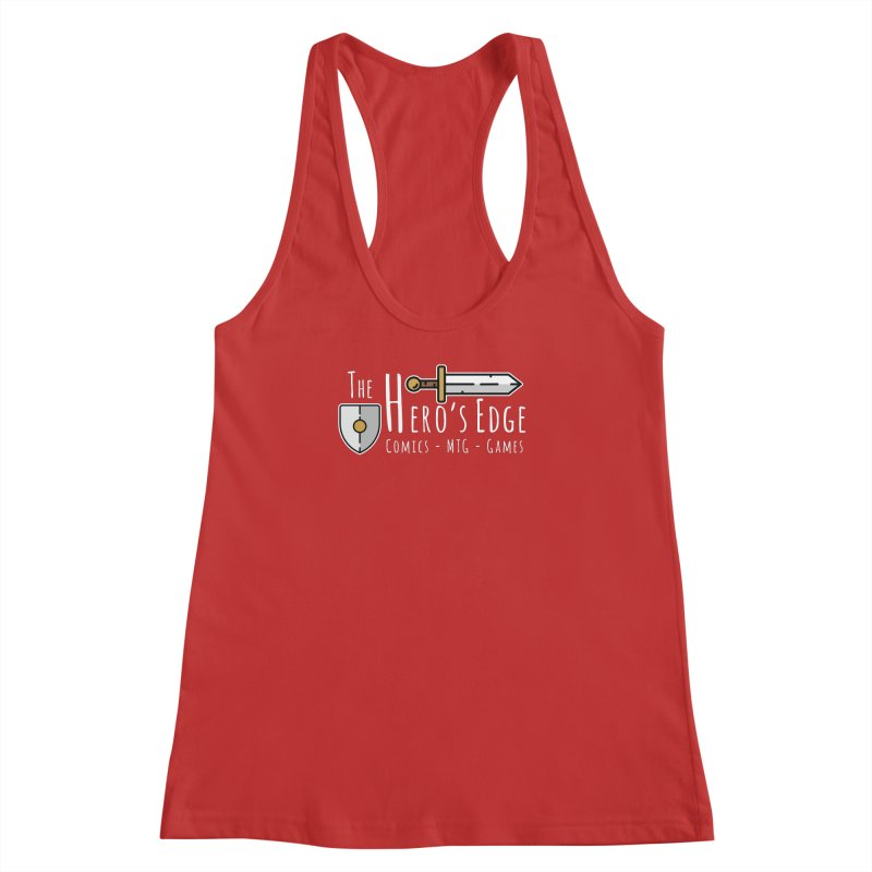 The Hero's Edge Logo Light on Dark Women's Racerback Tank by The Hero's Edge