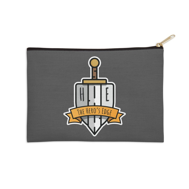 The Hero's Edge Sword & Shield Shop Name Accessories Zip Pouch by The Hero's Edge