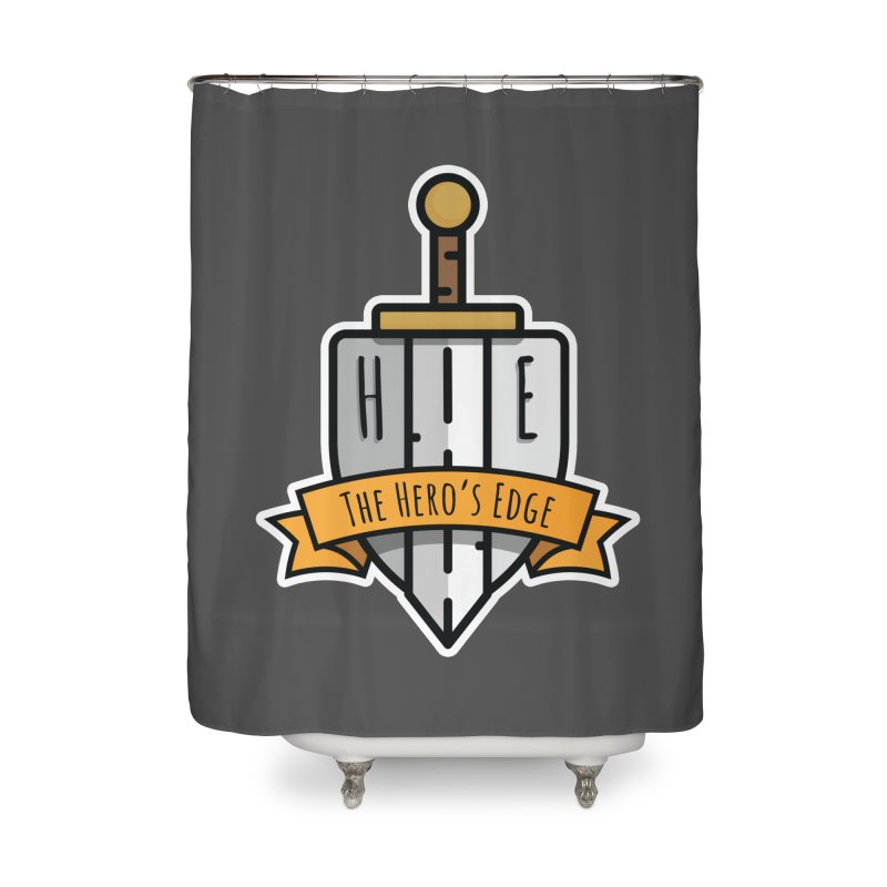 The Hero's Edge Sword & Shield Shop Name Home Shower Curtain by The Hero's Edge