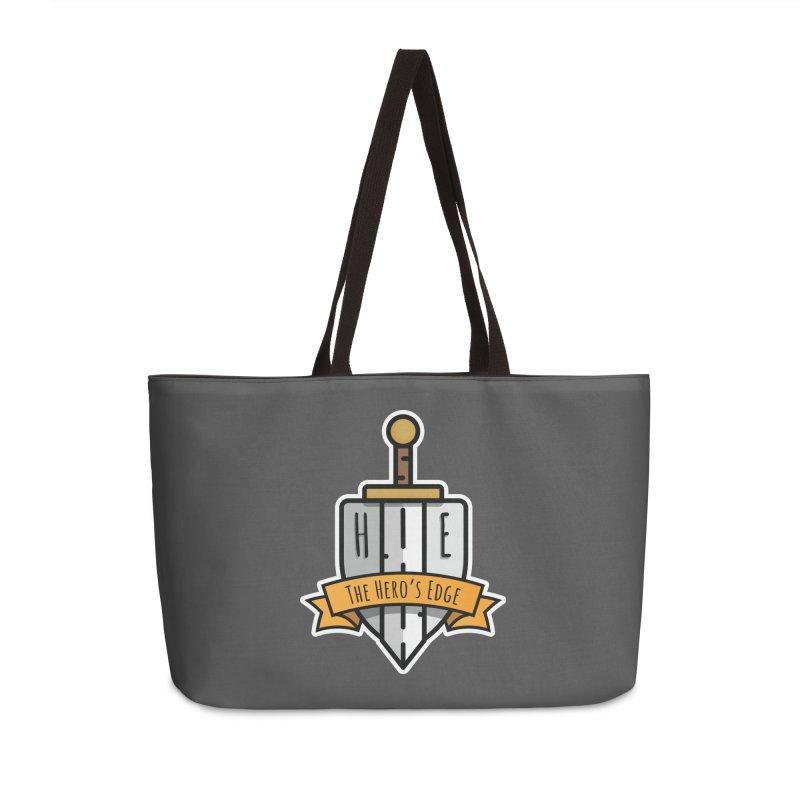 The Hero's Edge Sword & Shield Shop Name Accessories Weekender Bag Bag by The Hero's Edge