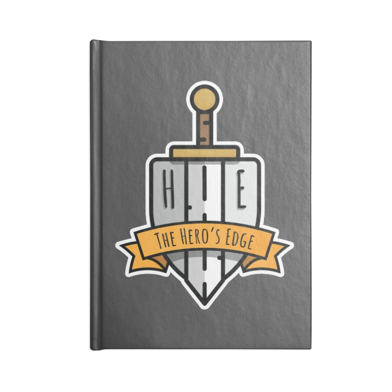 The Hero's Edge Sword & Shield Shop Name Accessories Blank Journal Notebook by The Hero's Edge