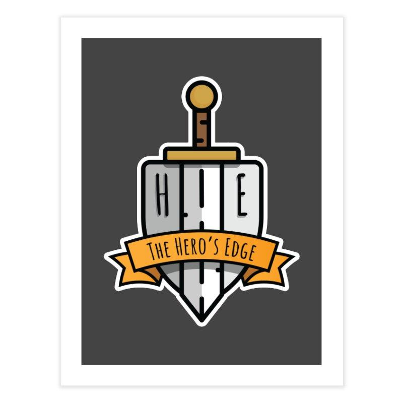 The Hero's Edge Sword & Shield Shop Name Home Fine Art Print by The Hero's Edge