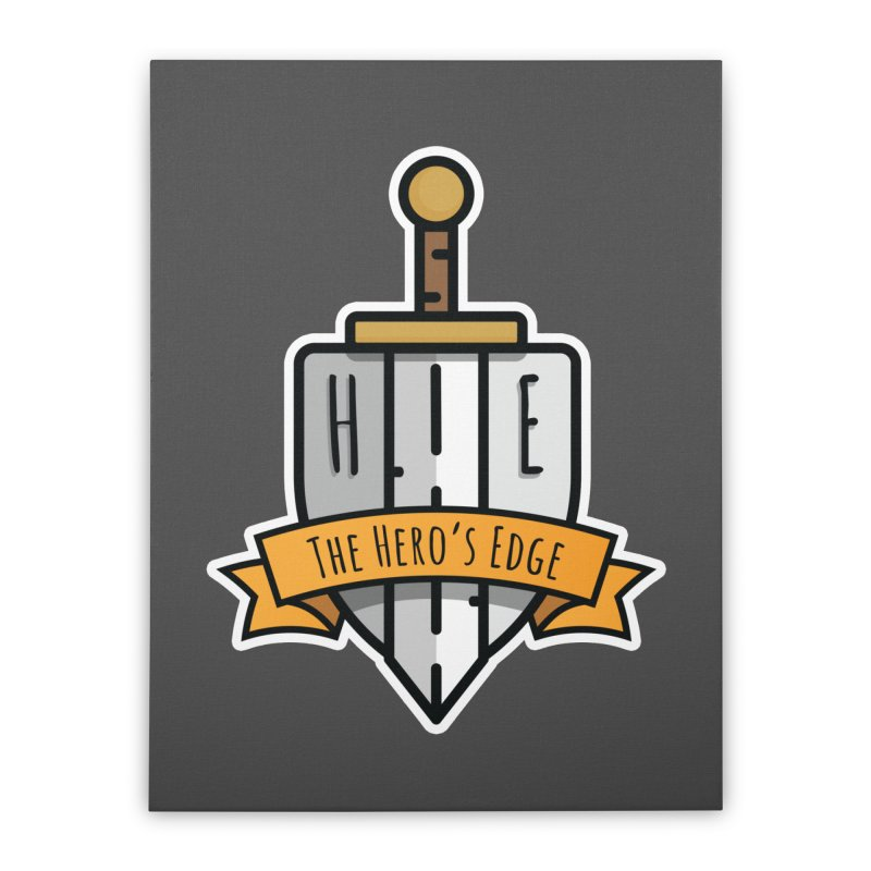 The Hero's Edge Sword & Shield Shop Name Home Stretched Canvas by The Hero's Edge