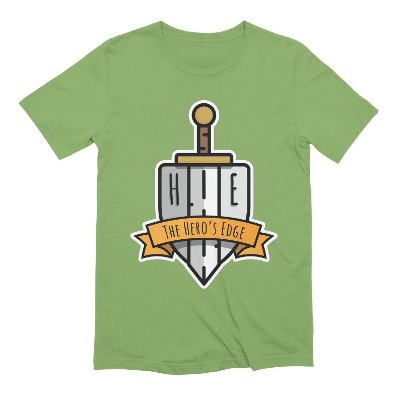 The Hero's Edge Sword & Shield Shop Name Men's Extra Soft T-Shirt by The Hero's Edge