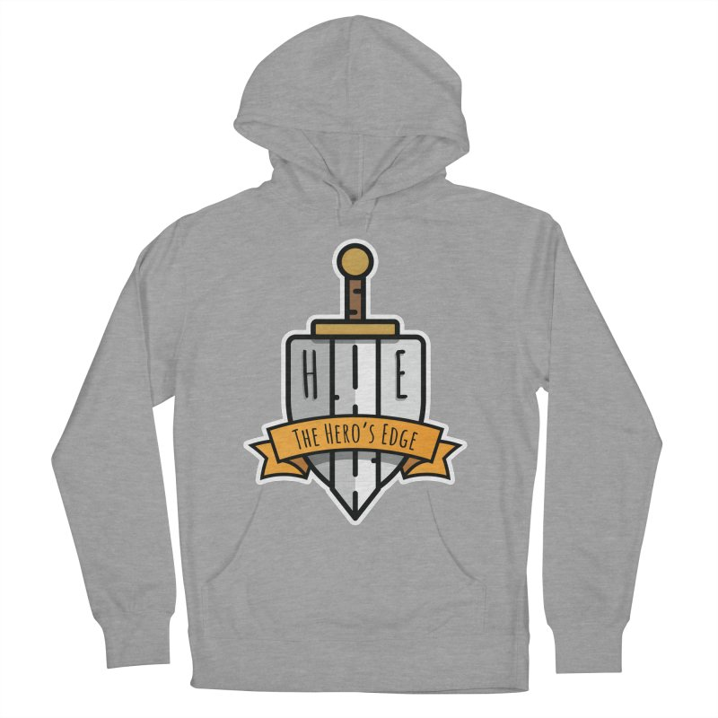 The Hero's Edge Sword & Shield Shop Name Men's French Terry Pullover Hoody by The Hero's Edge