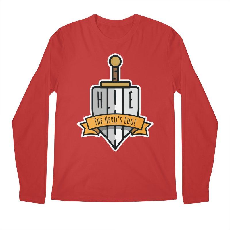 The Hero's Edge Sword & Shield Shop Name Men's Regular Longsleeve T-Shirt by The Hero's Edge