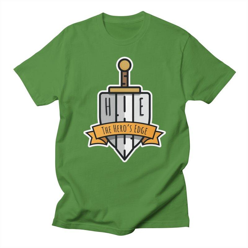 The Hero's Edge Sword & Shield Shop Name Men's Regular T-Shirt by The Hero's Edge