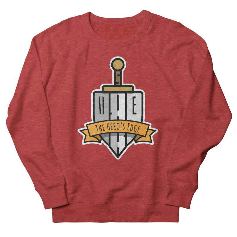 The Hero's Edge Sword & Shield Shop Name Men's French Terry Sweatshirt by The Hero's Edge