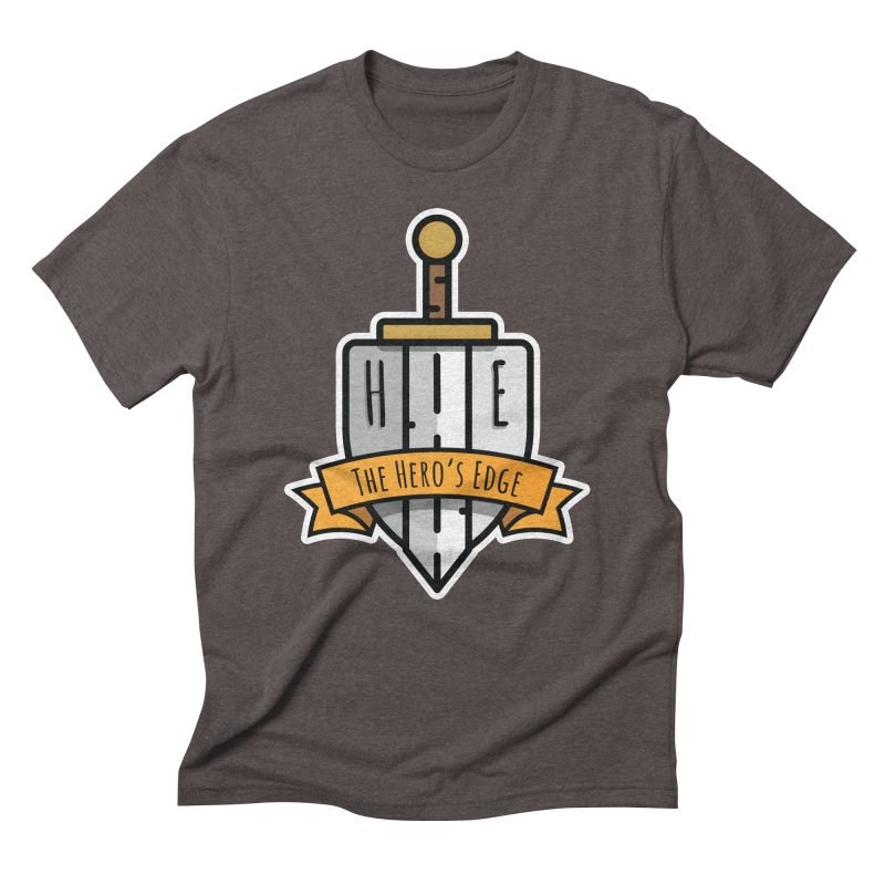 The Hero's Edge Sword & Shield Shop Name Men's Triblend T-Shirt by The Hero's Edge