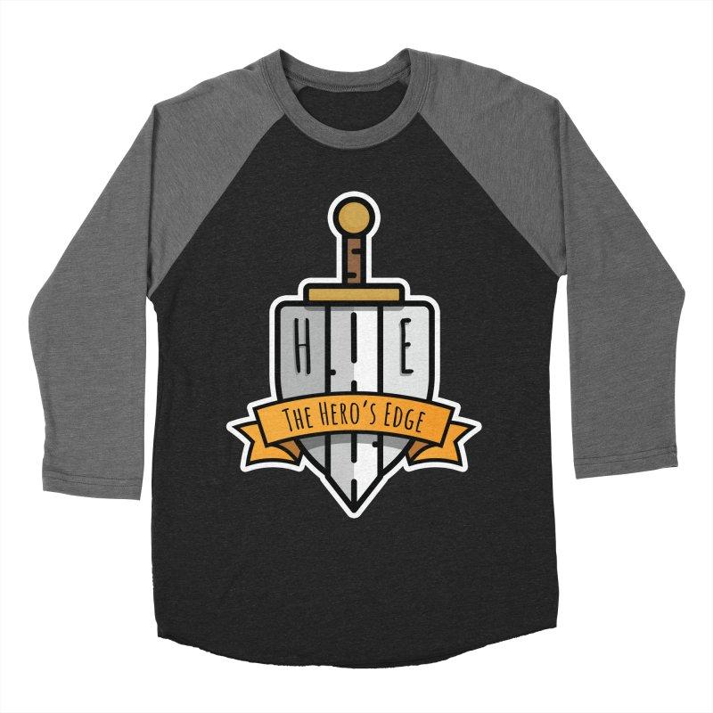 The Hero's Edge Sword & Shield Shop Name Women's Baseball Triblend Longsleeve T-Shirt by The Hero's Edge