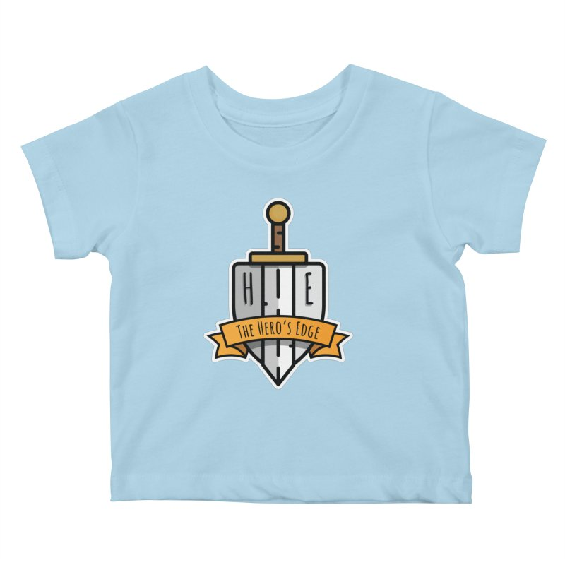 The Hero's Edge Sword & Shield Shop Name Kids Baby T-Shirt by The Hero's Edge