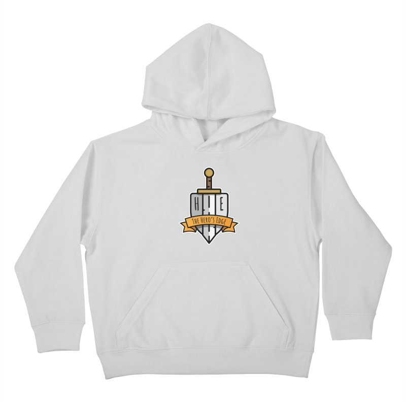 The Hero's Edge Sword & Shield Shop Name Kids Pullover Hoody by The Hero's Edge