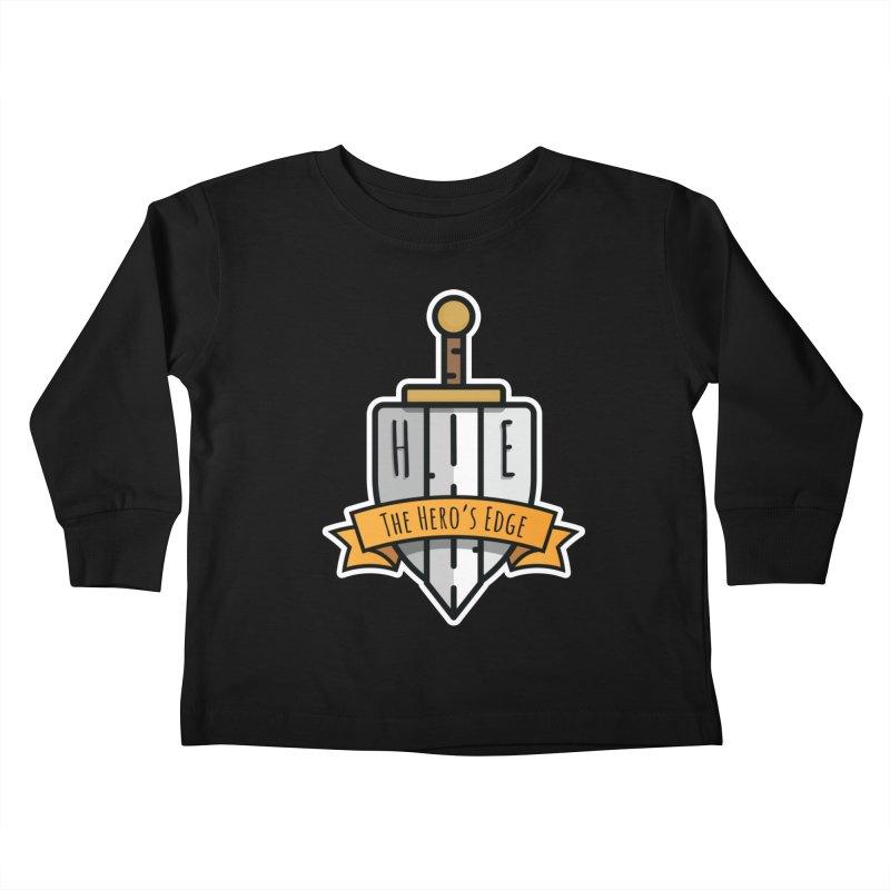 The Hero's Edge Sword & Shield Shop Name Kids Toddler Longsleeve T-Shirt by The Hero's Edge