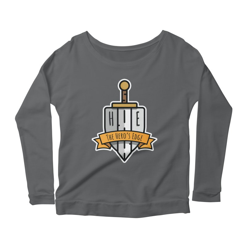 The Hero's Edge Sword & Shield Shop Name Women's Scoop Neck Longsleeve T-Shirt by The Hero's Edge