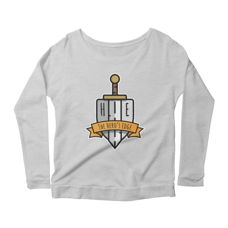 The Hero's Edge Sword & Shield Shop Name Women's Scoop Neck Longsleeve T-Shirt by The Hero's Edge