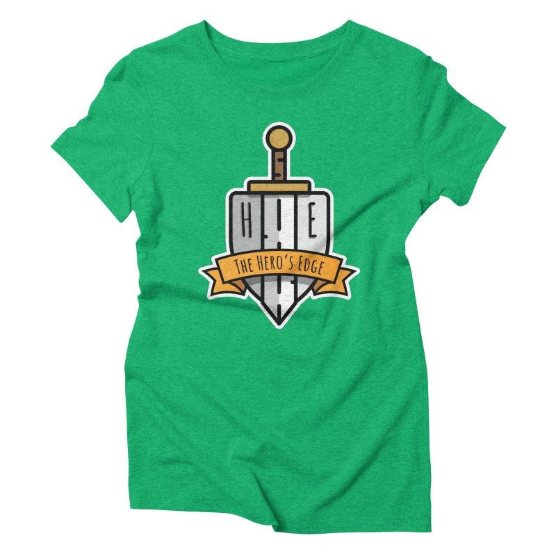 The Hero's Edge Sword & Shield Shop Name Women's Triblend T-Shirt by The Hero's Edge