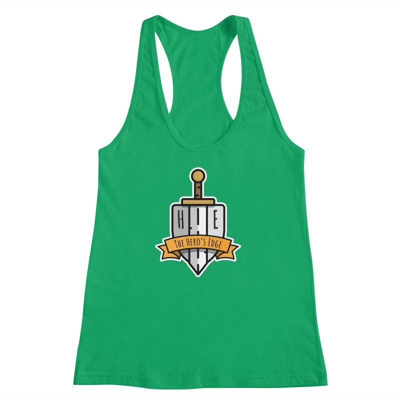 The Hero's Edge Sword & Shield Shop Name Women's Racerback Tank by The Hero's Edge