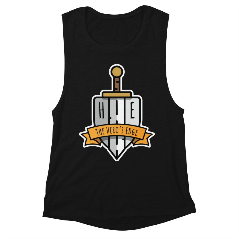 The Hero's Edge Sword & Shield Shop Name Women's Muscle Tank by The Hero's Edge