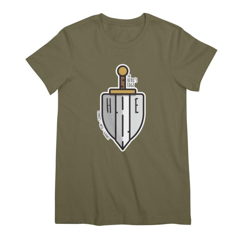 The Hero's Edge Sword & Shield Women's Premium T-Shirt by The Hero's Edge