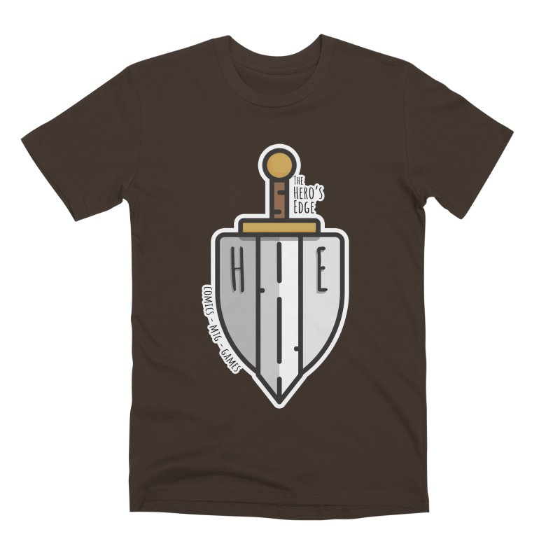 The Hero's Edge Sword & Shield Men's Premium T-Shirt by The Hero's Edge