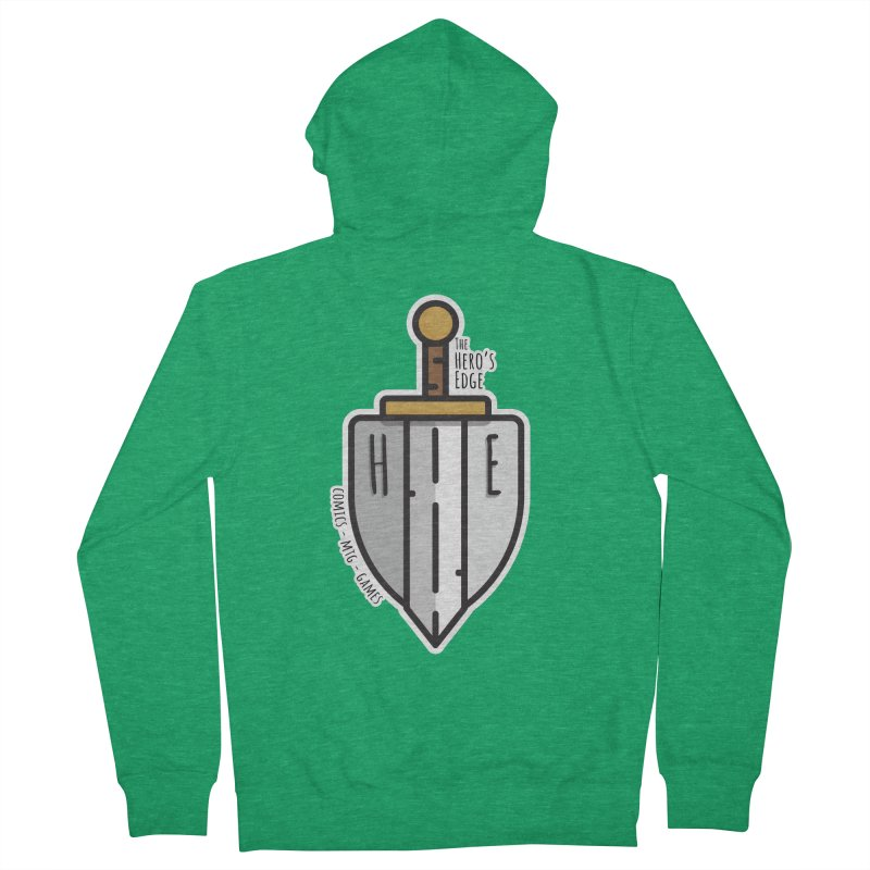 The Hero's Edge Sword & Shield Men's French Terry Zip-Up Hoody by The Hero's Edge