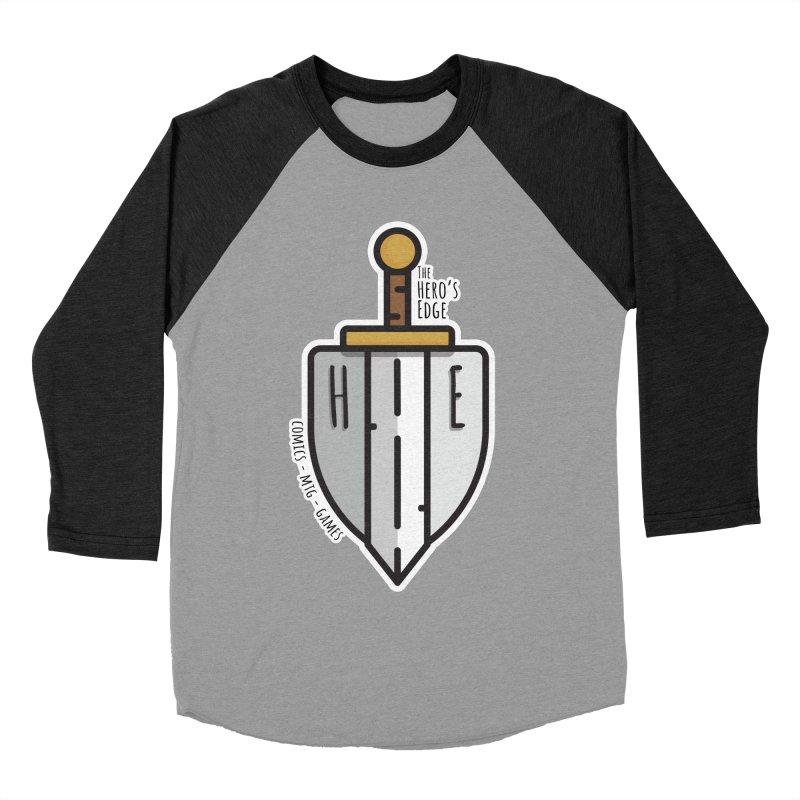 The Hero's Edge Sword & Shield Women's Baseball Triblend Longsleeve T-Shirt by The Hero's Edge