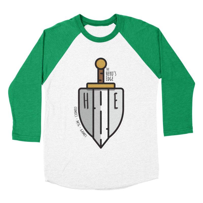 The Hero's Edge Sword & Shield Men's Baseball Triblend Longsleeve T-Shirt by The Hero's Edge