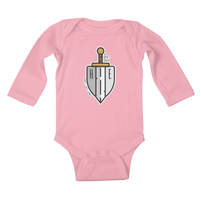 The Hero's Edge Sword & Shield Kids Baby Longsleeve Bodysuit by The Hero's Edge
