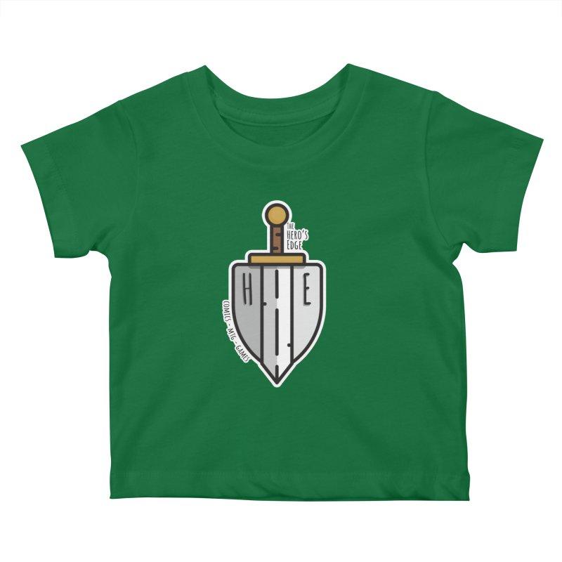 The Hero's Edge Sword & Shield Kids Baby T-Shirt by The Hero's Edge