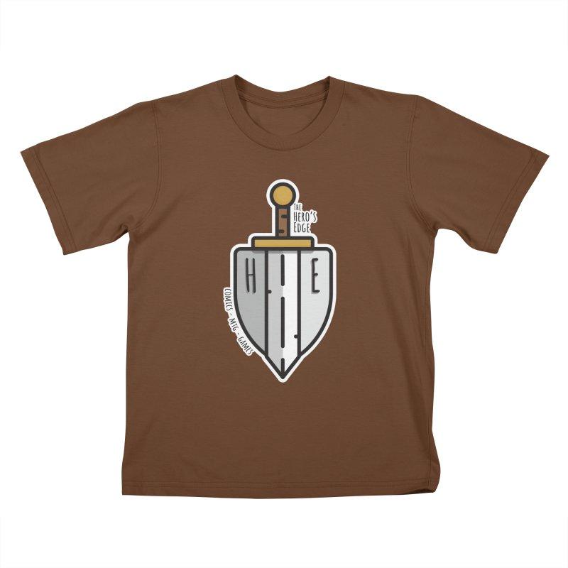 The Hero's Edge Sword & Shield Kids T-Shirt by The Hero's Edge