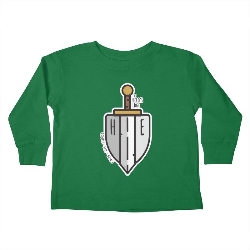 The Hero's Edge Sword & Shield Kids Toddler Longsleeve T-Shirt by The Hero's Edge