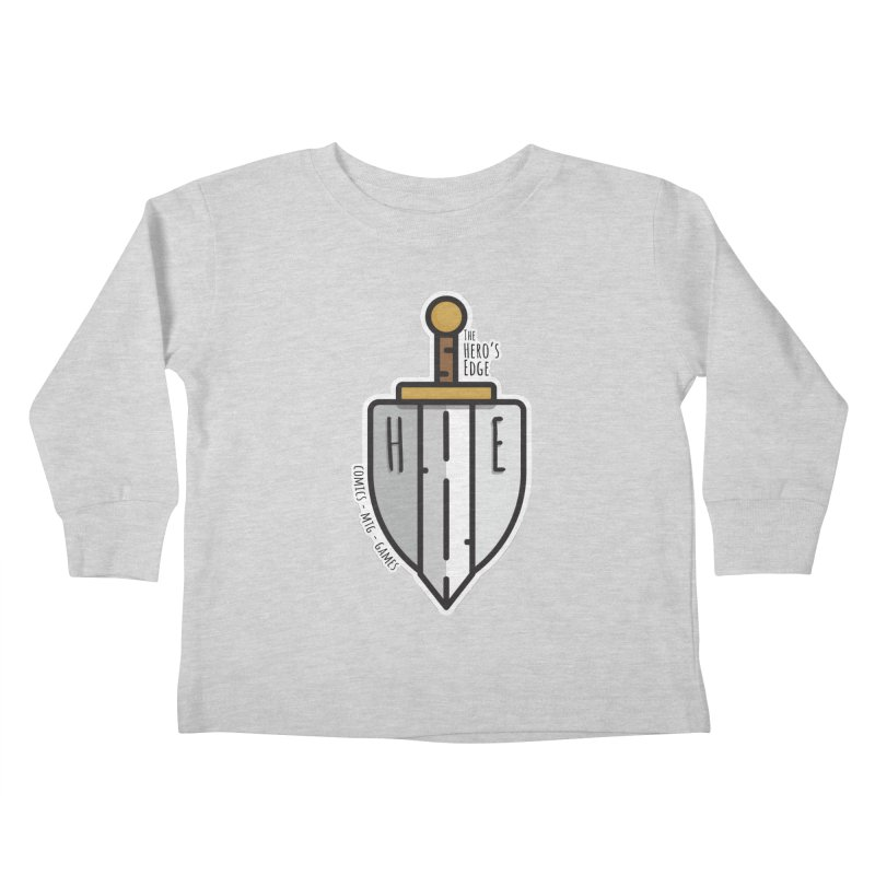 The Hero's Edge Sword & Shield Kids Toddler Longsleeve T-Shirt by The Hero's Edge