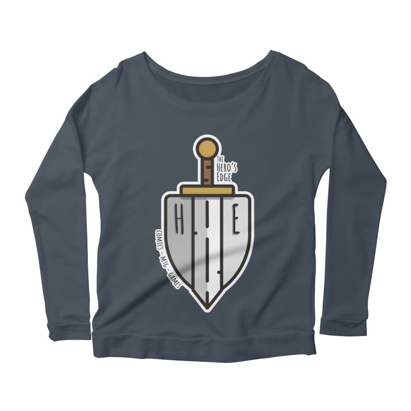 The Hero's Edge Sword & Shield Women's Scoop Neck Longsleeve T-Shirt by The Hero's Edge