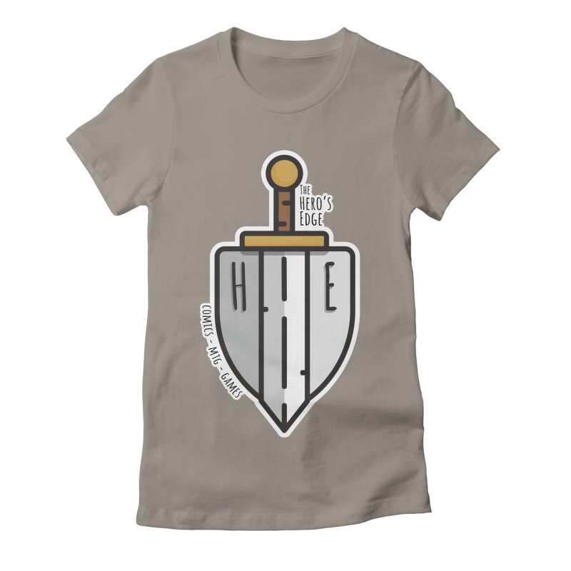 The Hero's Edge Sword & Shield Women's Fitted T-Shirt by The Hero's Edge