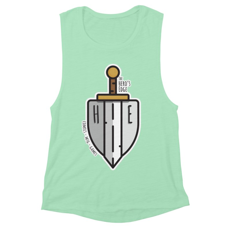 The Hero's Edge Sword & Shield Women's Muscle Tank by The Hero's Edge