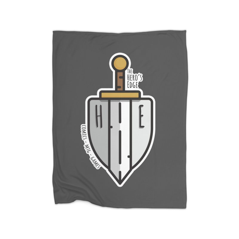 The Hero's Edge Sword & Shield Home Fleece Blanket Blanket by The Hero's Edge