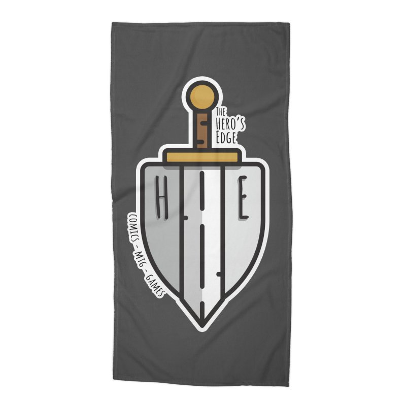 The Hero's Edge Sword & Shield Accessories Beach Towel by The Hero's Edge