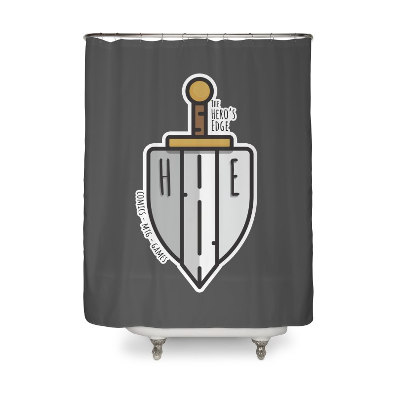The Hero's Edge Sword & Shield Home Shower Curtain by The Hero's Edge