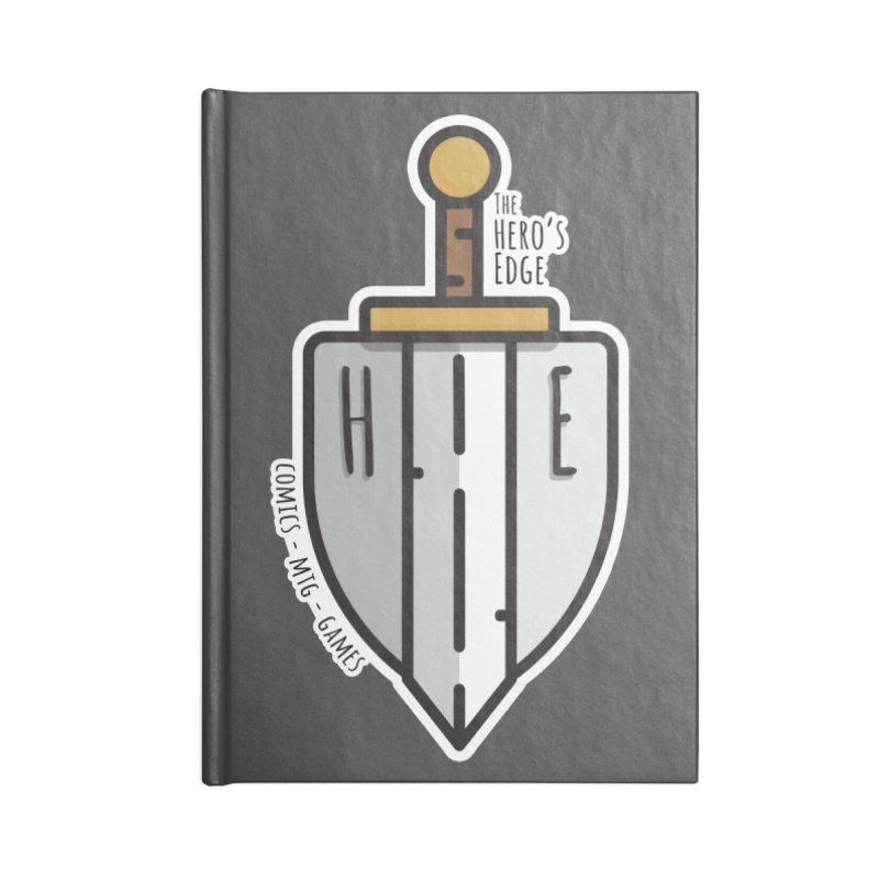 The Hero's Edge Sword & Shield Accessories Lined Journal Notebook by The Hero's Edge