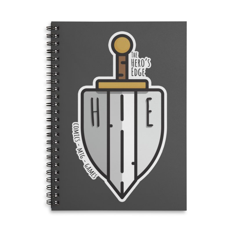 The Hero's Edge Sword & Shield Accessories Lined Spiral Notebook by The Hero's Edge
