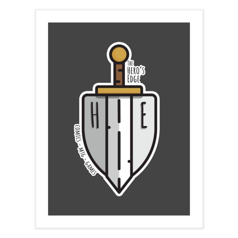 The Hero's Edge Sword & Shield Home Fine Art Print by The Hero's Edge