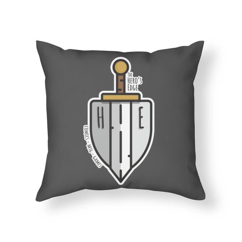 The Hero's Edge Sword & Shield Home Throw Pillow by The Hero's Edge