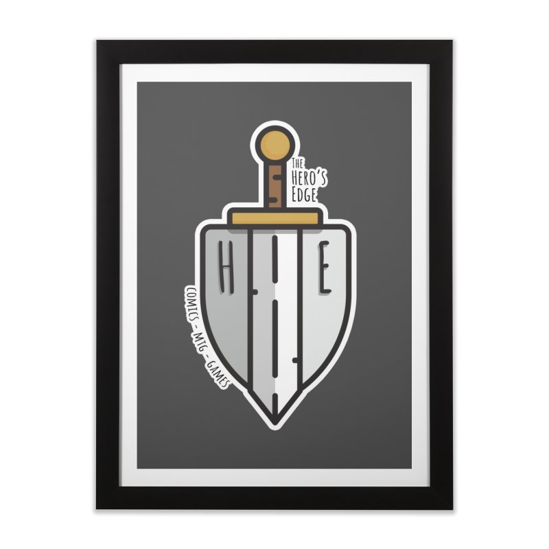 The Hero's Edge Sword & Shield Home Framed Fine Art Print by The Hero's Edge