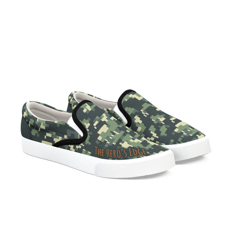 Digi Camo - The Hero's Edge Men's Slip-On Shoes by The Hero's Edge