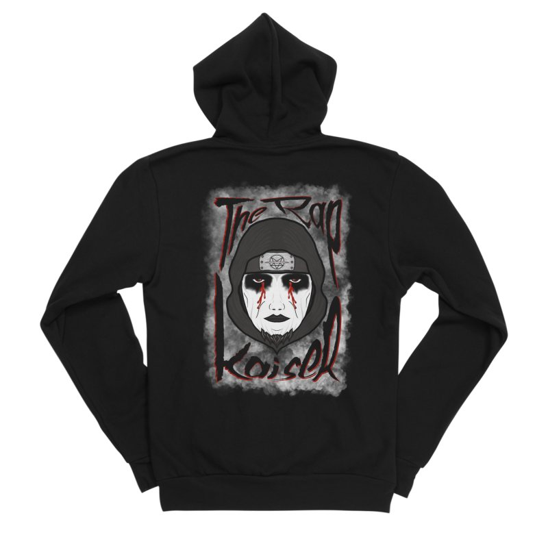 The Rap Kaiser (Face Paint Cartoon) Men's Zip-Up Hoody by The Hex Mob Fam Welcomes You