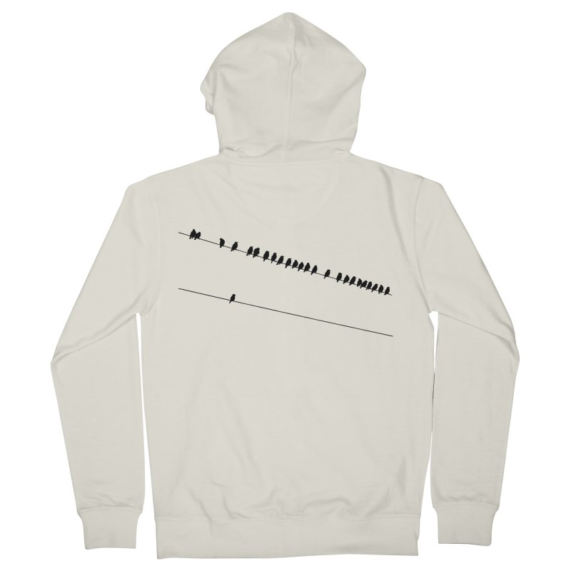 Need More Followers Women's French Terry Zip-Up Hoody by Howard Forrester's Artist Shop