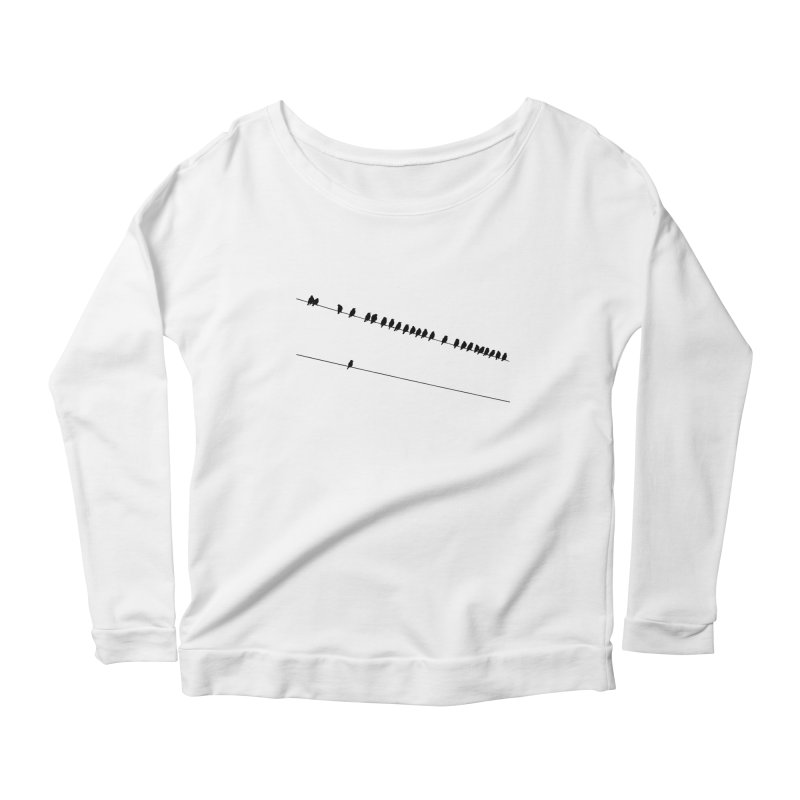 Need More Followers Women's Longsleeve Scoopneck  by Howard Forrester's Artist Shop