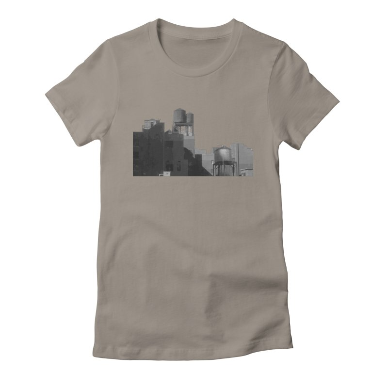 Water Towers Women's Fitted T-Shirt by Howard Forrester's Artist Shop
