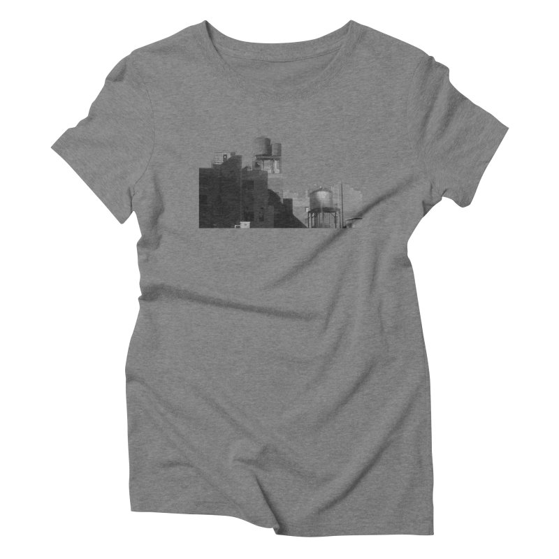 Water Towers Women's Triblend T-Shirt by Howard Forrester's Artist Shop