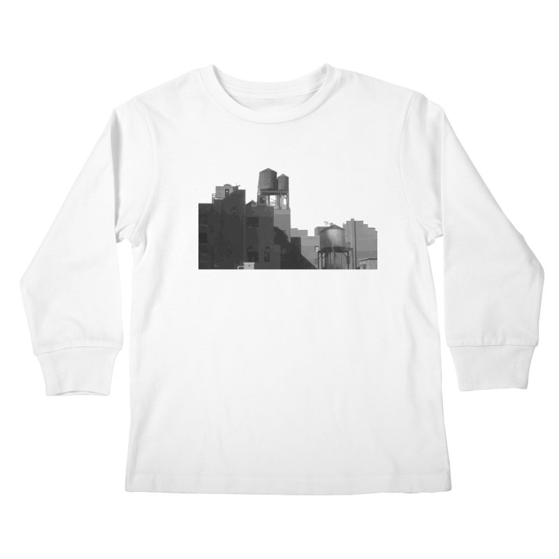 Water Towers Kids Longsleeve T-Shirt by Howard Forrester's Artist Shop